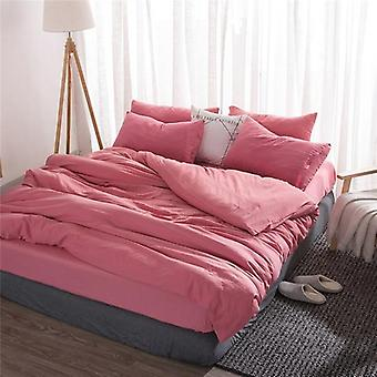 Soft Washed Cotton Bedding Set, Duvet Cover Bed Sheet Pillowcase