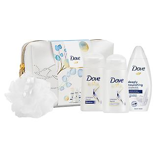 Dove nærende Secrets Nærende Rituals Beauty Bag og Puff Gift Set, 2pk