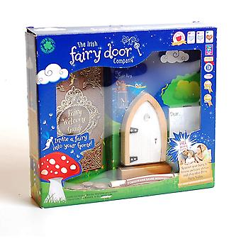 The irish fairy door company white arched door