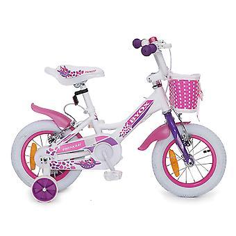 Byox barnens cykel 12 tums Princess rosa, stödhjul, kedjeskydd, legering fälgar