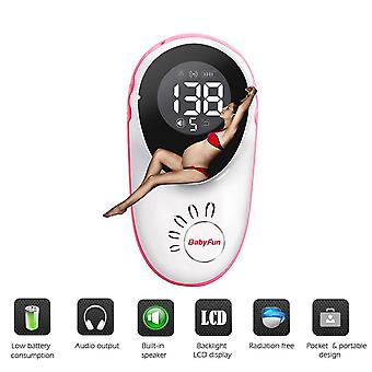 Doppler fetal heart rate monitor for pregnant without radiation stethoscope listening to fetal heart rate