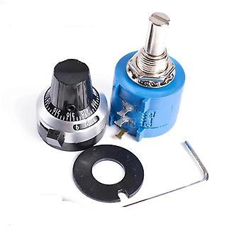 Precision Multiturn Potentiometer, 10-ring Resistor & 1pcs Turns Counting, Dial