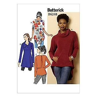 Butterick ompelu kuviot 6248 Misses Tunic, Koko 16-18-20-22-24 F5