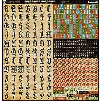Graphique 45 - Autocollants Alphabet