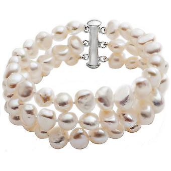 Pearls of the Orient Margarita Triple Strand Freshwater Pearl Bracelet - White