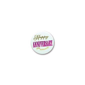 Happy Anniversary Satin Button (Pack von 6)
