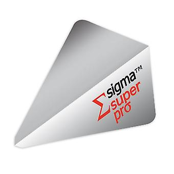 Unicorn Darts Sigma.100 Super Pro Shape Micron Dart Flight - Silver