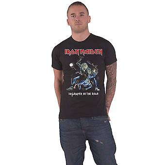 Iron Maiden T Shirt No Prayer On The Road Band Logo new Official Mens Black