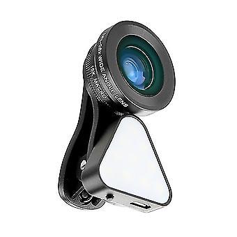 3-In-1 クリップオンスマートフォン充填光&電話カメラレンズキット
