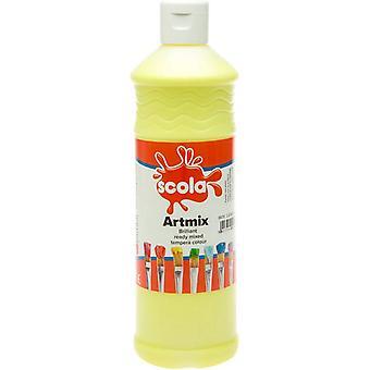 Scola Artmix Ready Mixed Tempera Paint 600ml (Lemon Yellow)