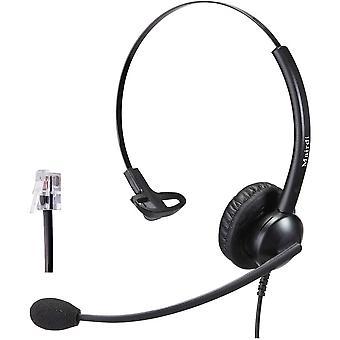 FengChun Telefon Headset mit Mikrofon Noise Cancelling, Mono Bro CallCenter Festnetztelefonen