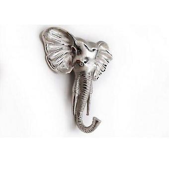 Silver Elephant Coat Hook Aluminium Wall Decoration