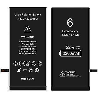 FengChun Akku für iPhone 6, 2200mAh Ersatzakku hohe Kapazität mit 22% mehr iPhone Batterie mit