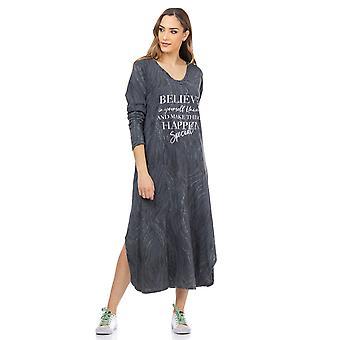 Maxi jurk met grafische print