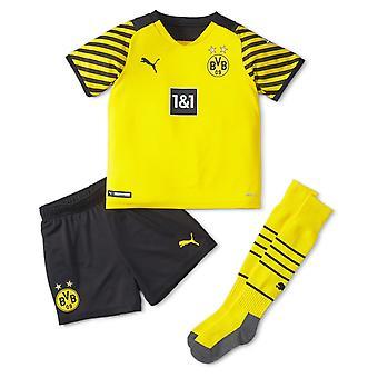 Puma Kids Borussia Dortmund Koti Mini Kit 2021 2022 Kotimainen Replica Jalkapallo