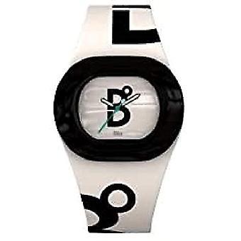 B360 WATCH Unisex Small wristwatch, 3 bars silicone quartz B COOL White Black
