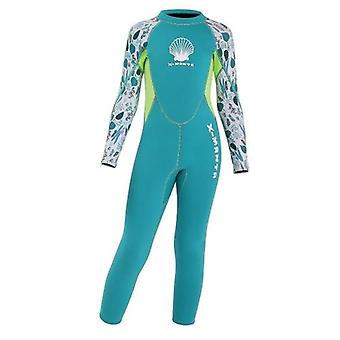 Girls Wetsuit Long Sleeve Diving Swimsuit with Back Zipper Quick Dry One Piece Surf Suit for Water Sports