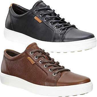 Ecco Mens Soft 7 Leather Casual Fashion Pumps Trainers Sneakers