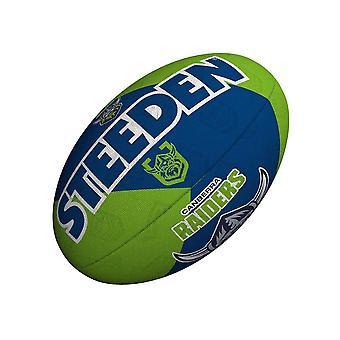 Steeden NRL كانبيرا المغيرون مؤيد 2021 دوري الركبي الكرة الخضراء / البحرية الزرقاء