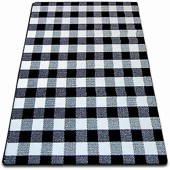 Rug SKETCH - F759 white/black - chequered