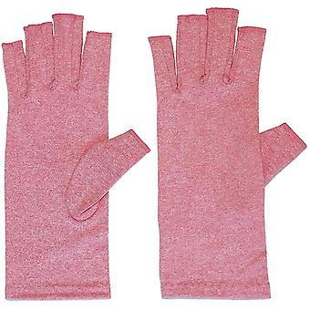 L arthritis gloves with grips for men fingerless compression dt6250