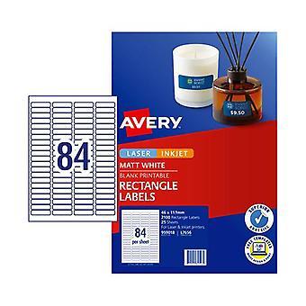 Avery Lip Multi Purpose Label L7656 84Up Pack Of 25