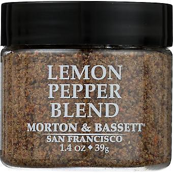 Morton & Bassett Seasoning Lemon Pepp Blnd, Case of 3 X 1.4 Oz