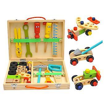 1 Sæt Childrens Simulation Toolbox Legetøj Cartoon Toolbox Set Foregive Play Reparation Tools Kit Demontering Reparation og vedligeholdelse værktøjer til drenge