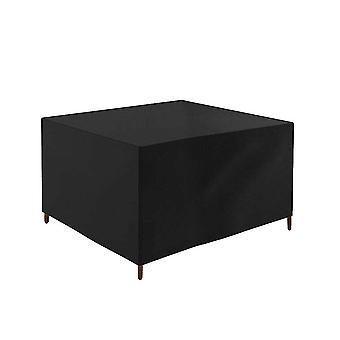 Musta 123x123x74cm oxford kangas ulkopöytä tuoli pölypeite vedenpitävä homi2837