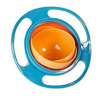 Universal Gyro Bowl, children's 360-degree rotating balance bowl(Blue)