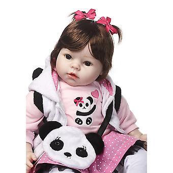 20 Zoll Mädchen Puppe wiedergeborene Silikon Vinyl Kinder spielen Haus spielzeug bebe Geschenk Boneca wiedergeborene Silikon wiedergeborene Babypuppen