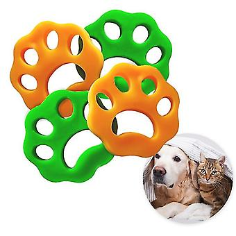 4 Pack Pet Hair Remover For Laundry Fur Remover Hair Catcher Cleaning Lint Remover(4xPlum Flower)