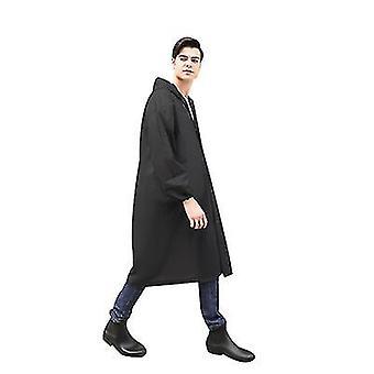 معطف المطر قابلة لإعادة الاستخدام مع هود للبالغين، إيفا ماء وتنفس معاطف المطر للمشي لمسافات طويلة (أبيض)
