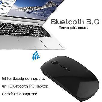 Kannettava ladattava Bluetooth 3.0 Langaton hiiri kannettavan tietokoneen tableteille