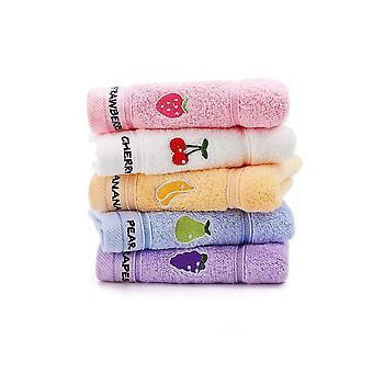 Gästehandtücher 5er Waschlappen 25 x 50 cm Weich für Baby Kinder Baumwolle
