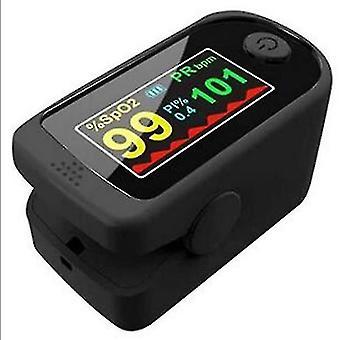 Finger Clip Oximeter Pulse Oximetry Monitor Heart Rate Detection Fingertip Oximeter(Black)