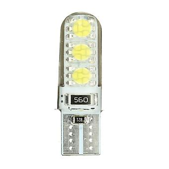 10 stk T10 194 501 W5W Silikone LED Side Nummerplade Lys Kile Lampe GRØN FARVE