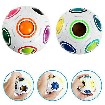 Fidget Ball Rainbow Magic Puzzle Rubi*s Cube Toy Autism Stress Relief Gifts