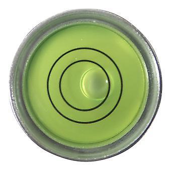 Small Metal Round Bubble Level (Green Liquid)