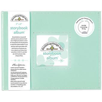 """Doodlebug Storybook D-Ring Album 8""""X8"""" - Mint"""