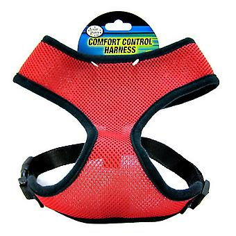 """Four Paws Comfort Control Harness - Red - X-Large - For Dogs 29-29 lbs (20""""-29"""" Chest & 15""""-17"""" Neck)"""