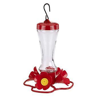 More Birds Impatiens Glass Hummingbird Feeder - 8 oz capacity
