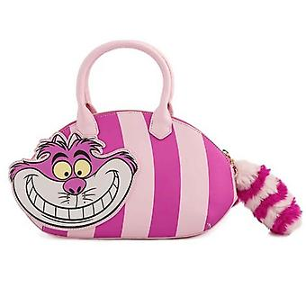 Loungefly Crossbody Bag Alice In Wonderland Cheshire Cat Applique Official Pink