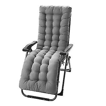 Lounger Cushion Pad Replacement Cotton Seat Pad For Recliner 155cm(Gray)