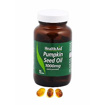 Health Aid Pumpkin Seed Oil 1000mg, 60 Capsules