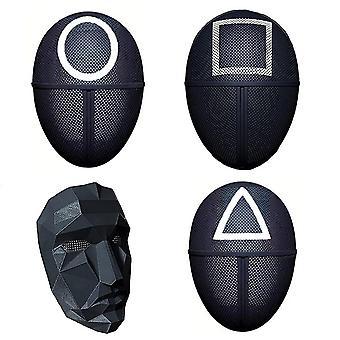 Tintenfisch Spiel Maskierte Mann Maske 2021 TV Cosplay Maske Zubehör Halloween Requisiten