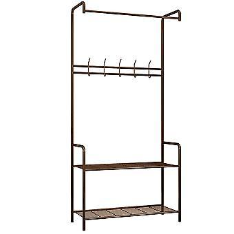 Homemiyn 5 Hook Floor-standing Mesh Storage Rack Drying Racks &Hangers
