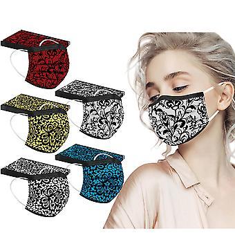 Vuxen man kvinnor mask spets tryckt engångs ansiktsmask3ply öronslinga 50st mask