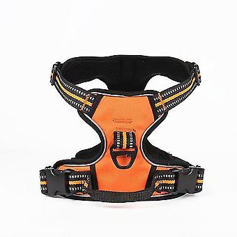 Kleine en middelgrote hond explosieveilige veiligheidsriem voor huisdieren (oranje S)
