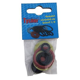 11 Pcs/Pack Plumbing Bathroom Taps Gaskets And Washers Set Rubber